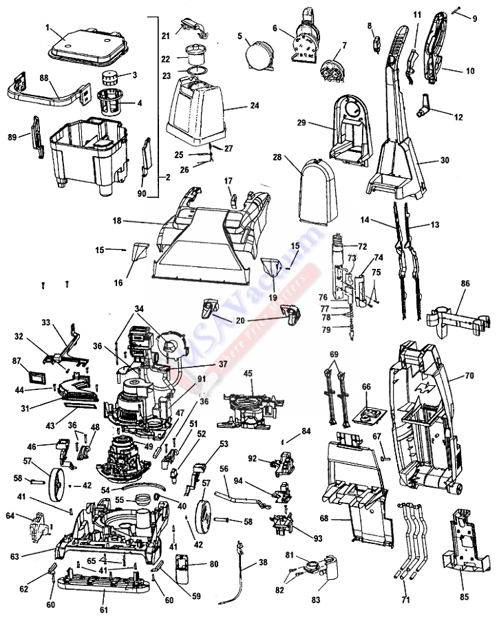 hoover carpet cleaner parts manual