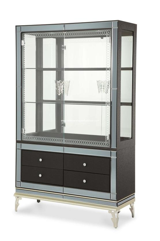 Hollywood Swank Caviar Curio with Drawers