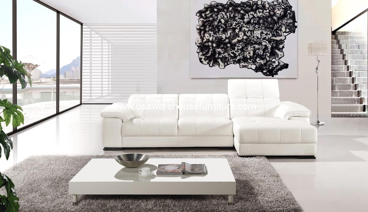 White Leather Sectional Sofa 2 piece diva casa italian top-grain white leather sectional sofa set