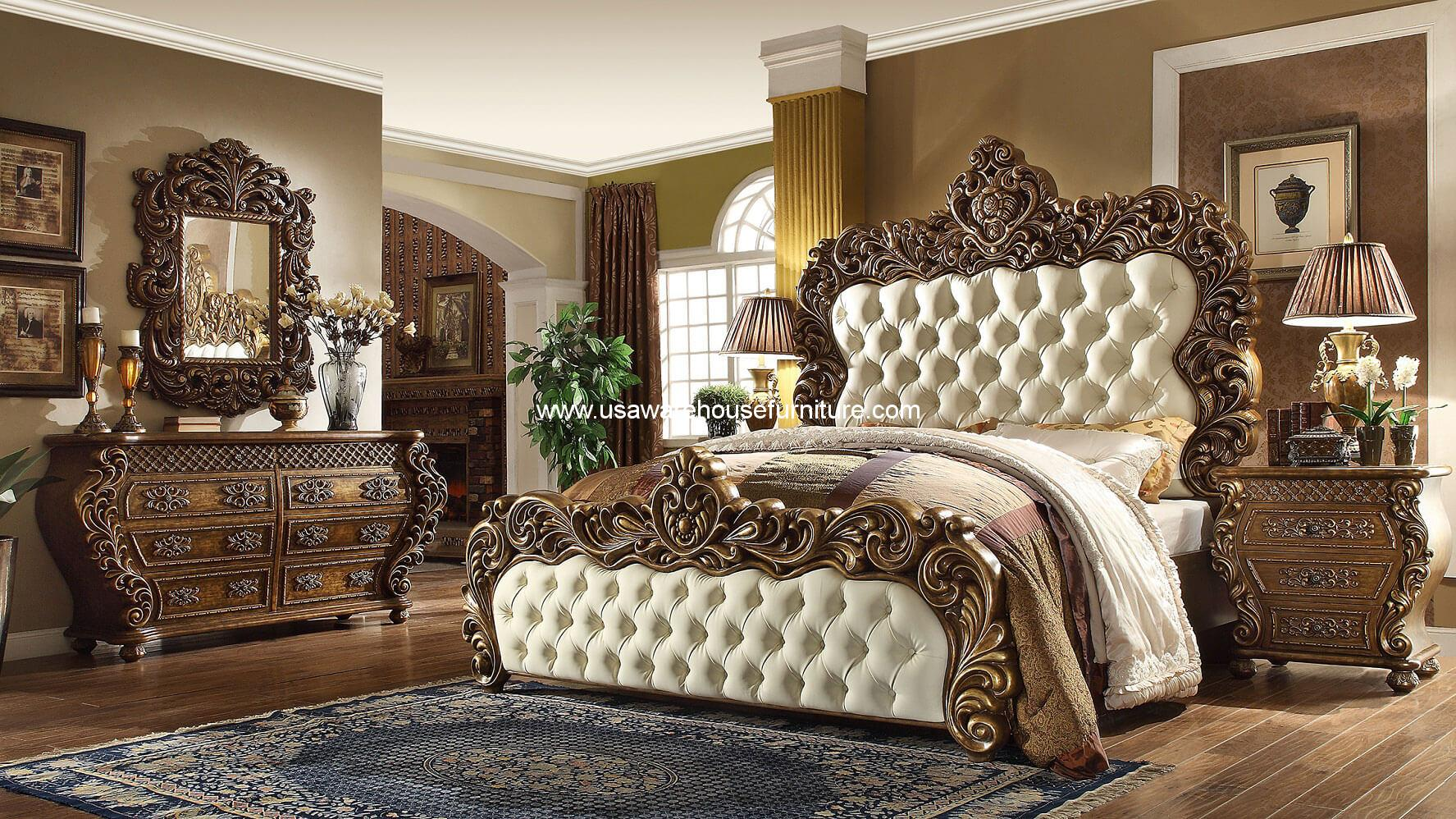 5 Piece Vienna European Bedroom Set Hd 8011 Usa Warehouse Furniture