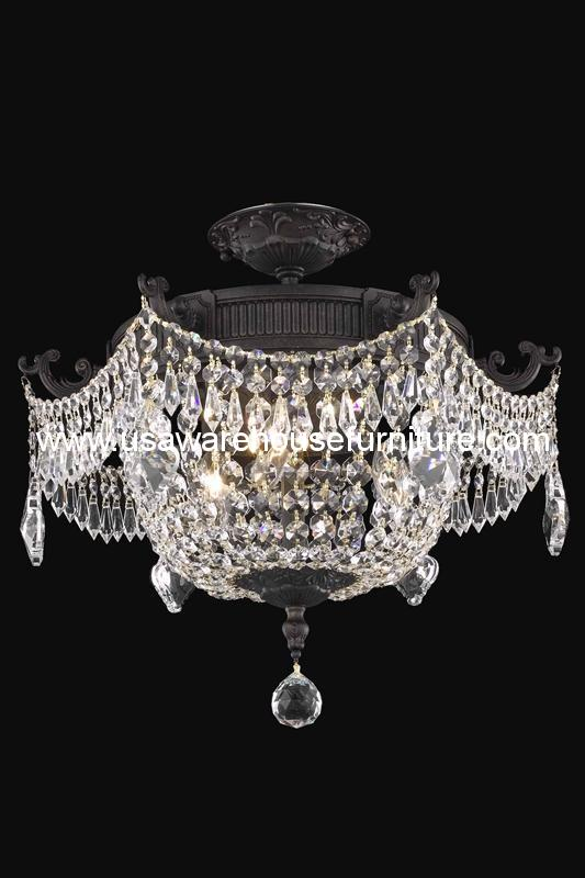 3 Lights Flush Mount 18 9303 Esperanza Collection