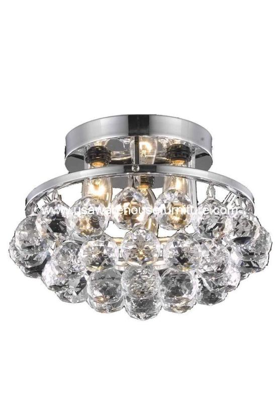 3 Lights Flush Mount 9805 Corona Collection