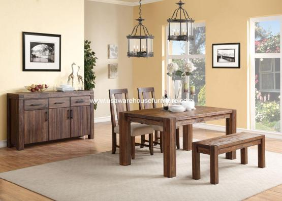 4 Piece Meadow Rustic Dining Set