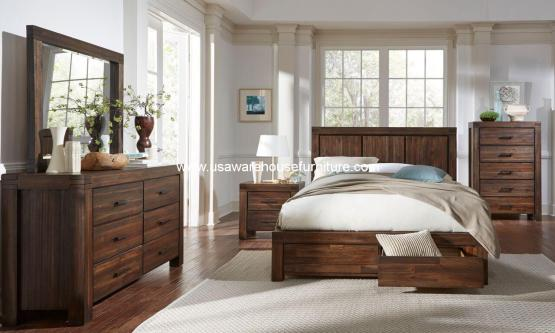 Meadow Solid Wood Storage Bedroom Set