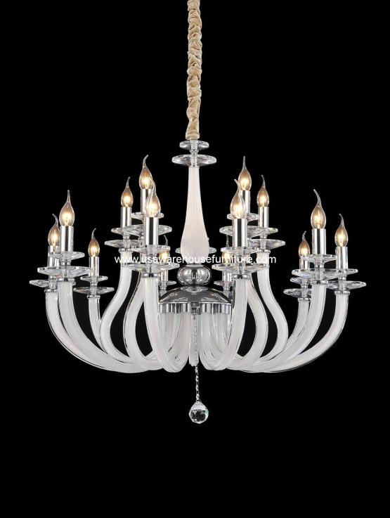 Michael Amini 15 Light San Marco Chandelier Opalescent Glass