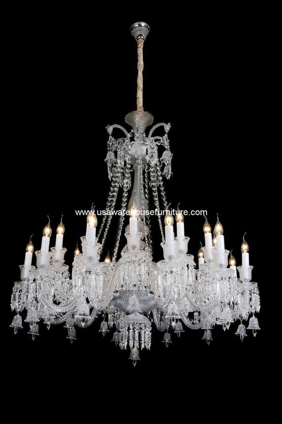 Michael Amini 24 Light Treviso Chandelier Clear Glass
