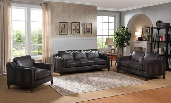 Ballari Full Leather Living Set