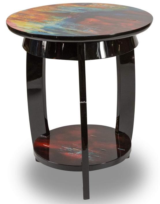 Michael Amini Illusion Accent Round Side Table