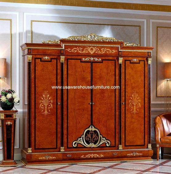Empire European 4 Door Wardrobe