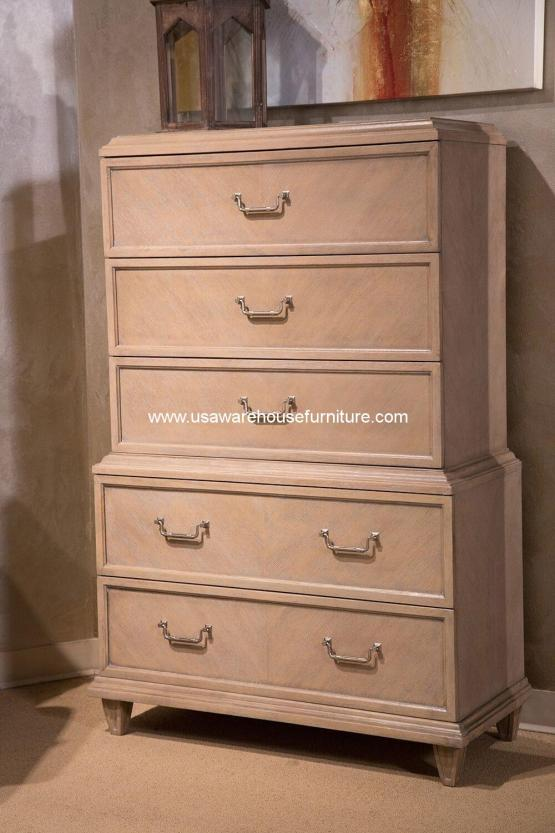 Michael Amini Tangier Coast 5 Drawer Chest Desert Sand
