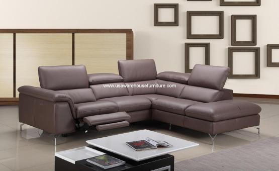 Anastasia Premium Brown Leather Sectional