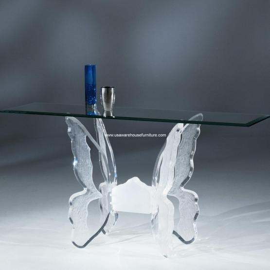 Acrylic Butterfly II Sofa Table