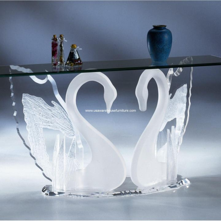 Frosted Acrylic Legend Swan Sofa Table