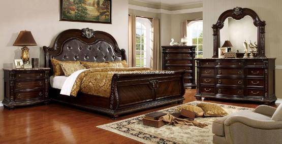 4 Piece Fromberg Sleigh Bedroom Set