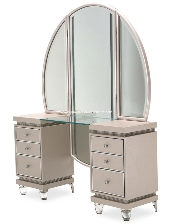 2 Piece Michael Amini Glimmering Heights Vanity