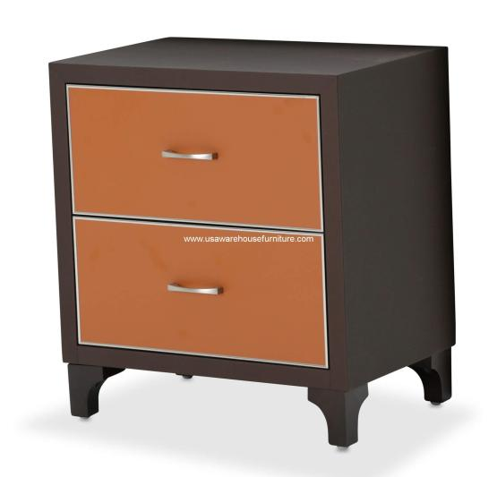 Michael Amini 21 Cosmopolitan Orange Nightstand