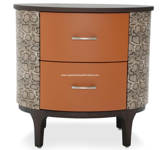 Michael Amini 21 Cosmopolitan Orange Oval Bachelor's Chest