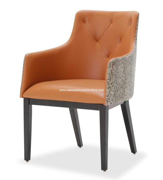 Michael Amini 21 Cosmopolitan Tufted Arm Chair
