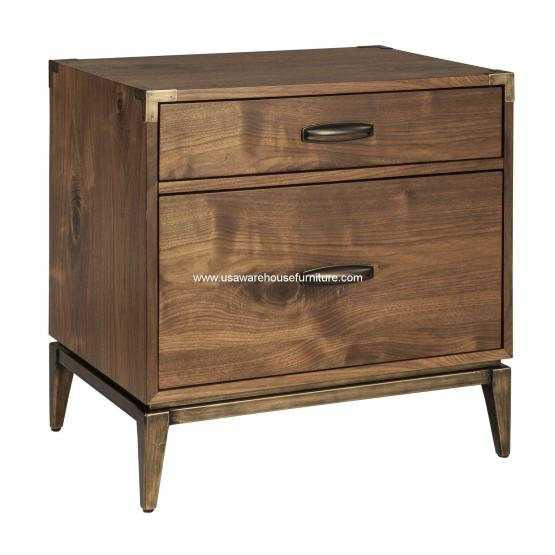 Adler 2 Drawer Nightstand