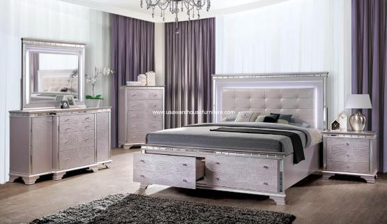 Claudette Contemporary Bedroom Set