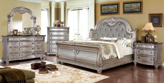 Fromberg Traditional Bedroom Set Champagne Finish