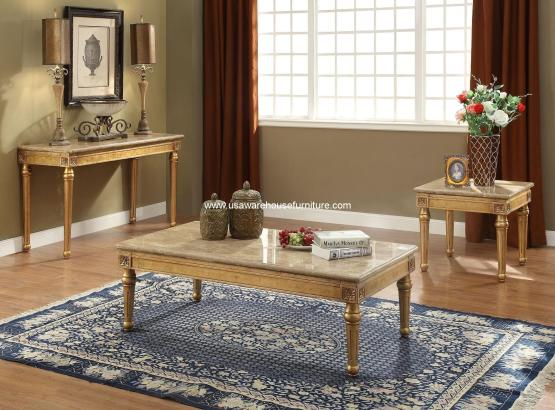 3 Pieces Daesha Marble Top Occasional Set