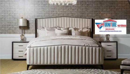 4 Piece Micheal Amini Paris Chic Bedroom Set