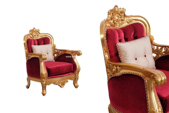 Bellagio II Gold Accent Chair