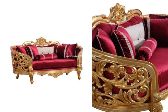 Bellagio II Gold Loveseat