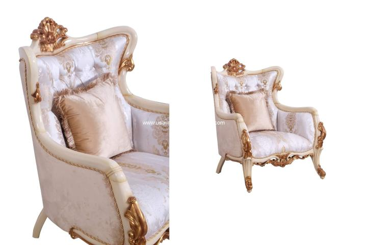 Veronica III Beige Accent Chair