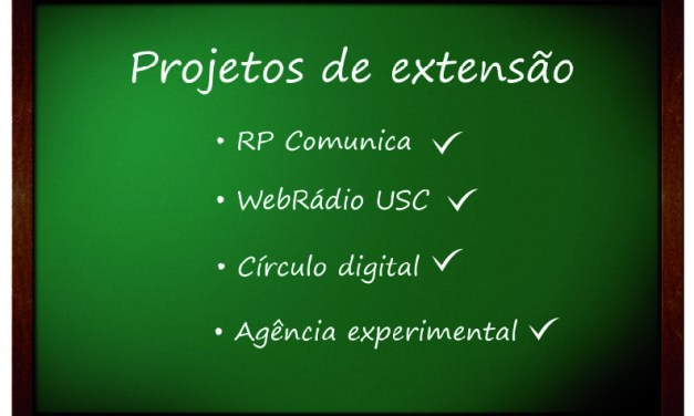 Projetos de extensão, um diferencial na vida acadêmica