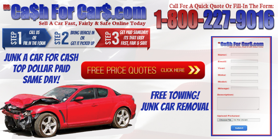 Cash For Junk Cars Online Quote Simple Junk A Car For Cash Cash For Cars Sell A Car Junk A Car 4848