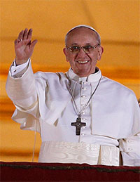 Pope Francis portrait thumbnail.CNS Photo/Paul Haring.