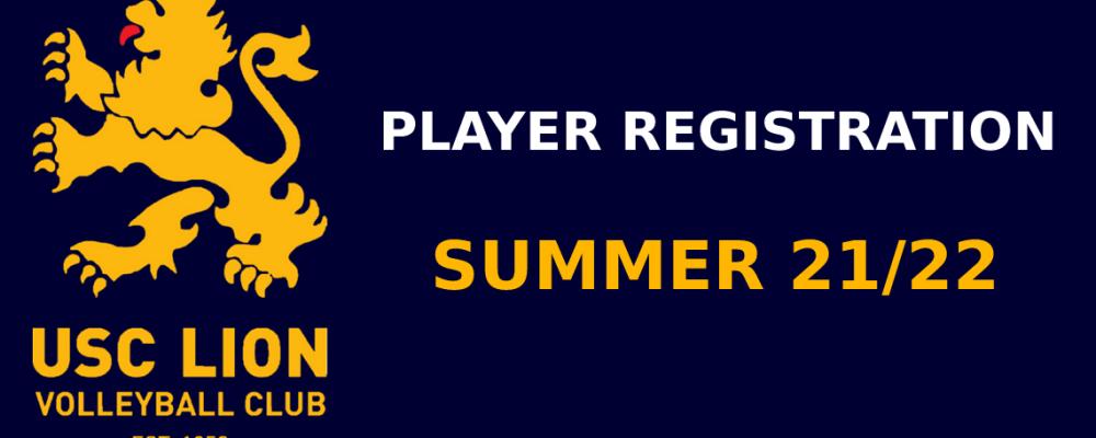 USC Lion Player Registration Form – Summer 21/22
