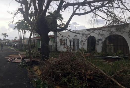 Destruction from Hurricane Maria in Puerto Rico.