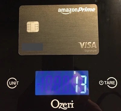 10 chase amazon prime 13g - Metal Visa Card