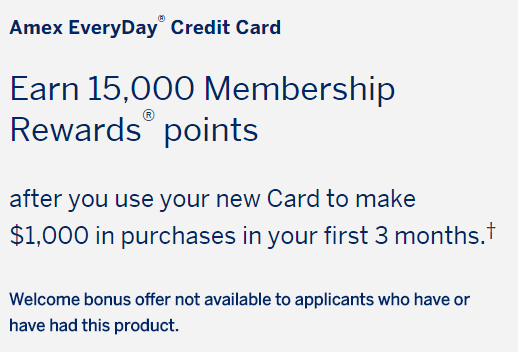 AMEX Everyday Card(ED)信用卡【2/2更新:开卡奖励提升至15k】