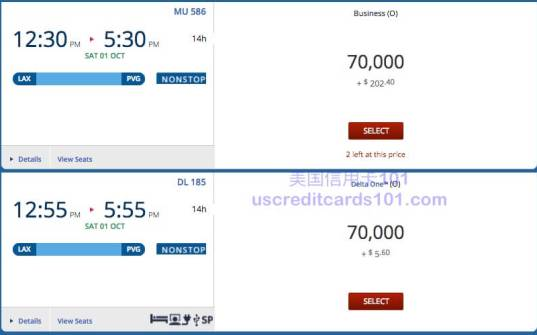 Devaluation of the Delta range of quiet, one-way business between China and up to the 80K!