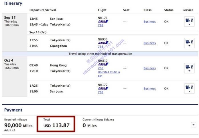 【4/22更新HKG大法】2015新版全日空里程兑换 (4) - 不得不说的YQ
