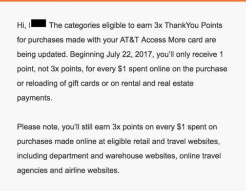 Citi AT&T Access More信用卡【6/14更新:3x返点将增加限制】