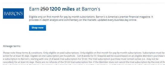 最高1200mile+免费Barrons/WSJ杂志= class=