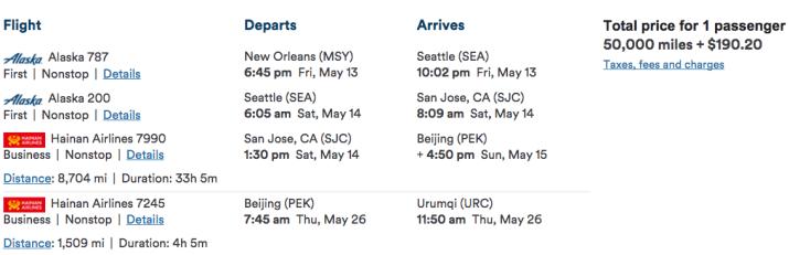 Alaska air miles (3)-s Hainan Airlines flights