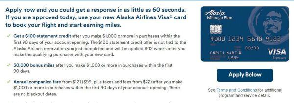 BOA Alaska Airline 信用卡【11/21更新:申请的三种经历分享】