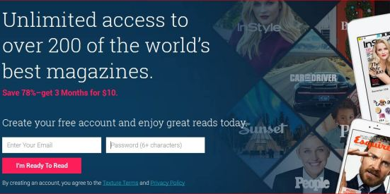 Swagbucks+Texture Mags = 三个月免费电子杂志+倒赚
