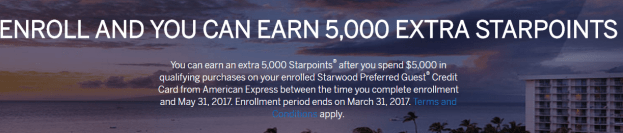 AMEX Starwood Preferred Guest (SPG) 信用卡【3/5更新:额外5k奖励,targeted】