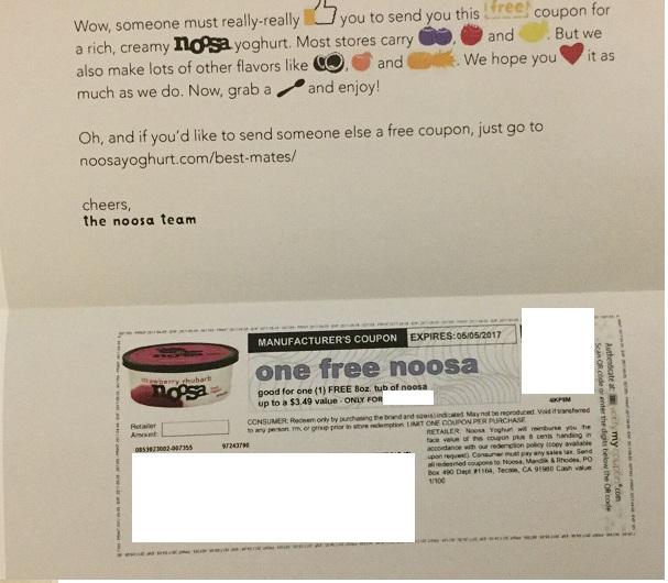 免费的Noosa酸奶