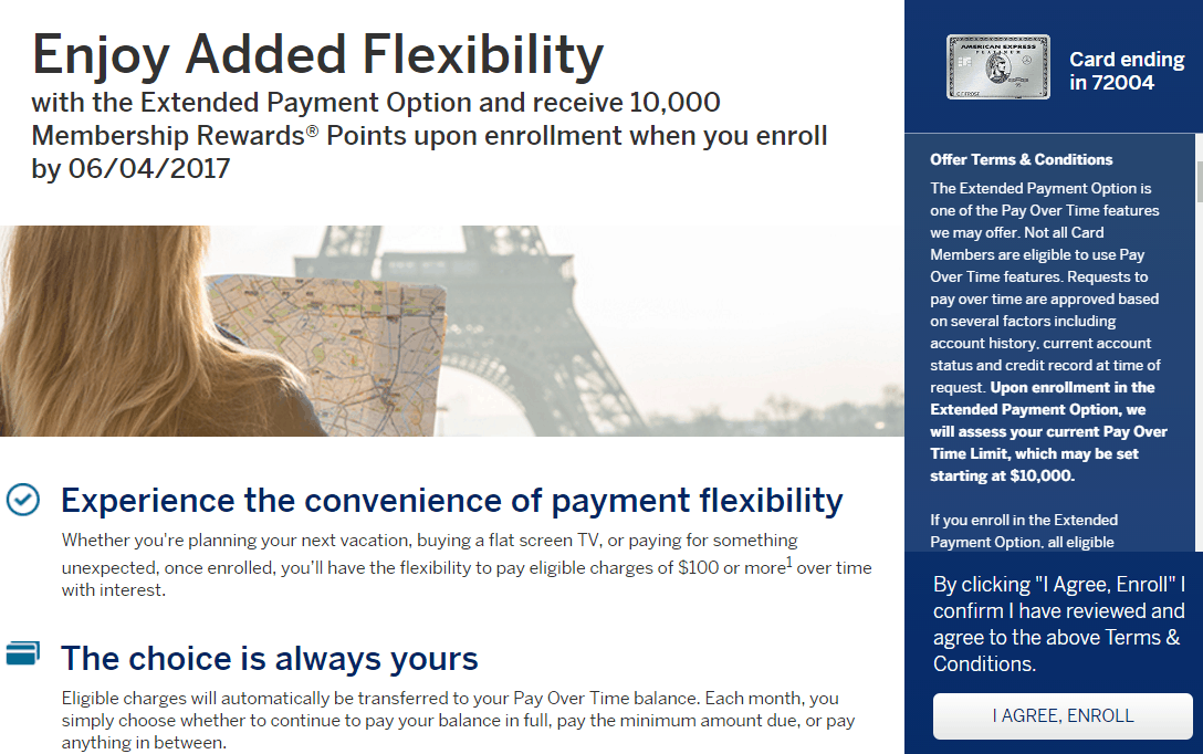 AMEX Pay Over Time 活动介绍【6/15更新:PRG 10k奖励链接,已有成功DP】