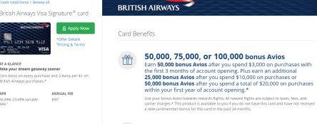 Chase British Airways 信用卡【4/6更新:100k开卡奖励重现】
