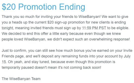 理财账户 WiseBanyan 免费送【活动已过期】