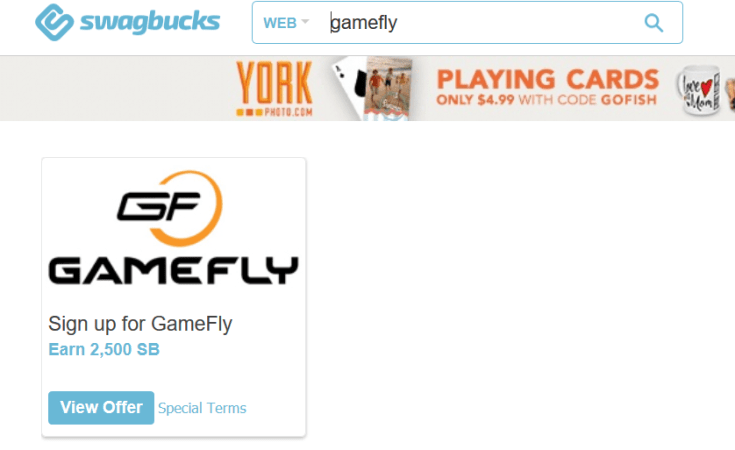 Swagbucks + Gamefly = + down to make the game free to play [8/21 Update: white + members take two months to earn back]